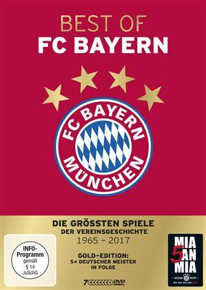 Best of FC Bayern München - Die grössten Spiele der Vereinsgeschichte - 1965 bis 2017 (Gold Edition, 7 DVDs)