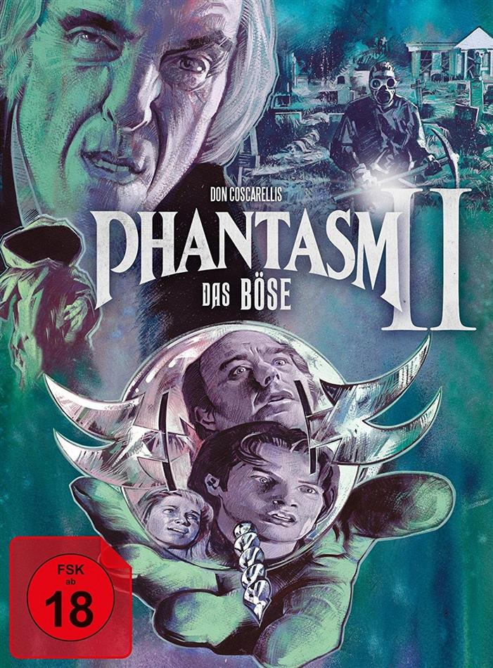 Phantasm 2 - Das Böse 2 (1988) (Cover A, Limited Edition, Mediabook, Uncut, Blu-ray + 2 DVDs)