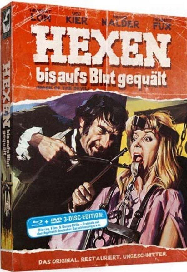 Hexen bis aufs Blut gequält (1970) (DigiPak, Limited Edition, Restaurierte Fassung, Uncut, Blu-ray + 2 DVDs)