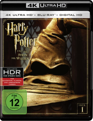 Harry Potter und der Stein der Weisen (2001) (Extended Edition, Versione Cinema, 4K Ultra HD + Blu-ray)