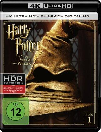 Harry Potter und der Stein der Weisen (2001) (Extended Edition, Versione Cinema, 4K Ultra HD + Blu-ray)