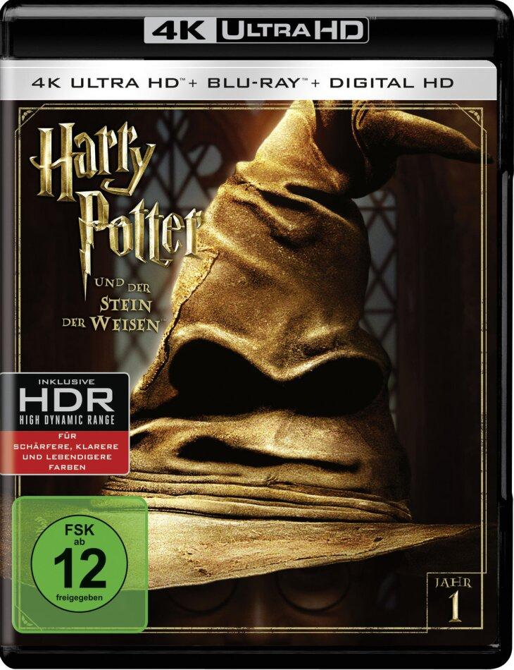 Harry Potter und der Stein der Weisen (2001) (Extended Edition, Kinoversion, 4K Ultra HD + Blu-ray)