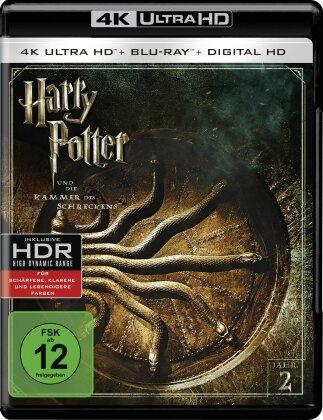 Harry Potter und die Kammer des Schreckens (2002) (Extended Edition, Versione Cinema, 4K Ultra HD + Blu-ray)