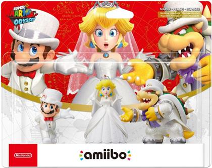 amiibo Super Mario Odyssey Character - Mario, Peach, Bowser