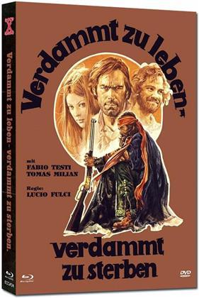 Verdammt zu leben - Verdammt zu sterben (1975) (Cover A, Eurocult Collection, Edizione Limitata, Mediabook, Uncut, Blu-ray + DVD)