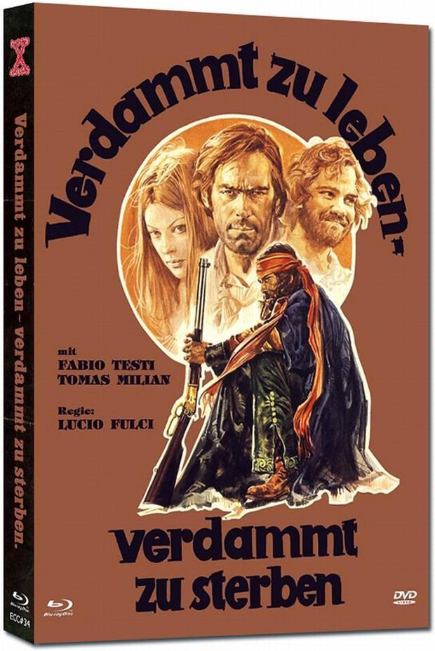 Verdammt zu leben - Verdammt zu sterben (1975) (Cover A, Eurocult Collection, Limited Edition, Mediabook, Uncut, Blu-ray + DVD)