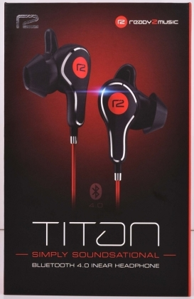 ready2music Titan BT 4.1 inEar Kopfhörer - black/red