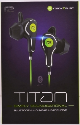 ready2music Titan BT 4.1 inEar Kopfhörer - black/green