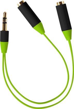 ready2music Audio Splitter Kabel - green