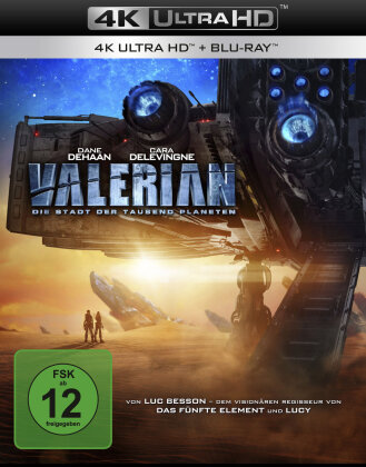 Valerian - Die Stadt der tausend Planeten (2017) (4K Ultra HD + Blu-ray)