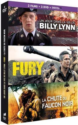 Un jour dans la vie de Billy Lynn / Fury / La Chute du Faucon Noir (3 DVDs)