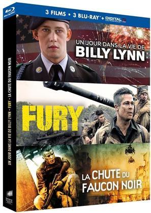 Un jour dans la vie de Billy Lynn / Fury / La Chute du Faucon Noir (3 Blu-rays)