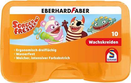 Sorgenfresser Wachsmalkreide - 10 Stk., dreiflächig, wasserfest, 83 mm Länge, in Kunststoffbox