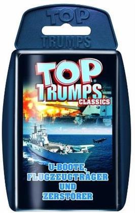 Top Trumps (Quartettspiel) - U-Boote, Flugzeugträger und Zerstörer