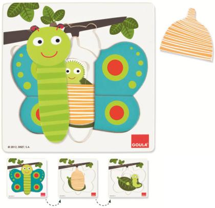 Schmetterling - Goula Holzpuzzle 3 Stufen