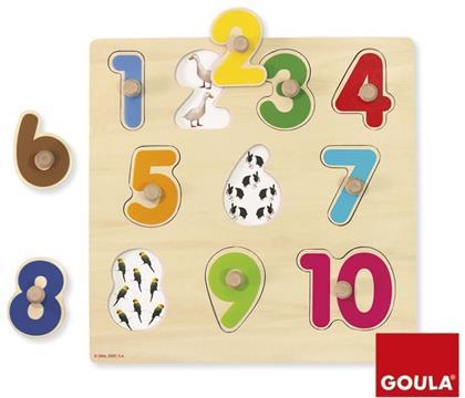 Zahlen - Goula Holzpuzzle 10 Teile