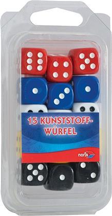 15 Kunststoff-Augenwürfel bunt - Noris Spiele 606154366