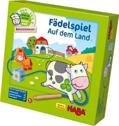 Fädelspiel Auf dem Land (Kinderspiel)