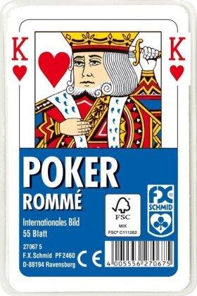 Poker - Rommé, Internationales Bild (Spielkarten)