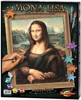Mona Lisa - Spezialkarton mit Leinenstruktur, Bildgröße: 50 x 40 cm, Acrylfarben, Pinsel. Ohne Rahmen!