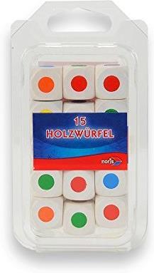 15 Holz Farbwürfel - Noris Spiele 606154364
