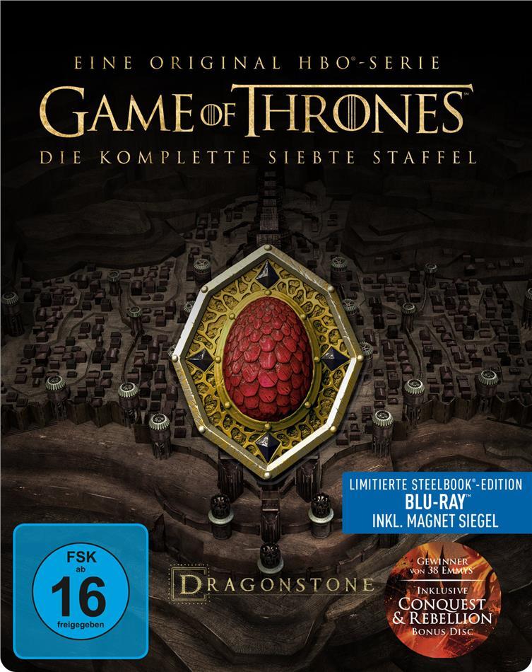 Game of Thrones - Staffel 7 (inkl. Magnet Siegel, Limited Edition, Steelbook, 4 Blu-rays)