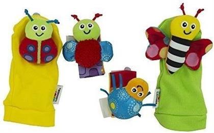 Handgelenkrassel & Füßefinder. Gardenbug Foot Finder & Wrist Rattle Set. Hochets pour poignets et pieds