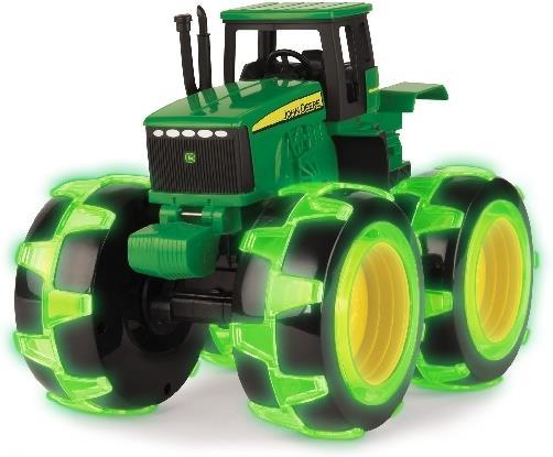 John Deere - Traktor mit leuchtenden Monsterrädern