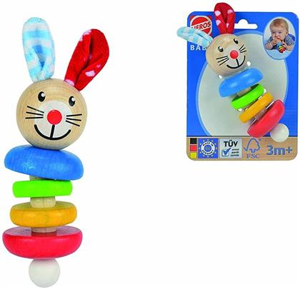 """""""Baby - Bunny"""" Grasping/Teething Toy with Plush Ears"""