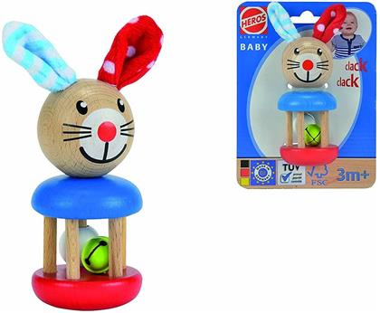 """""""Baby - Bunny"""" Wooden Rattle"""