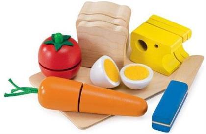 Picknick - Set aus Holz zum schneiden üben und Sandwich bauen