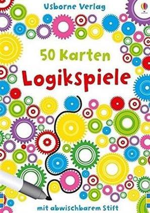 50 Karten Logikspiele - mit abwischbarem Stift