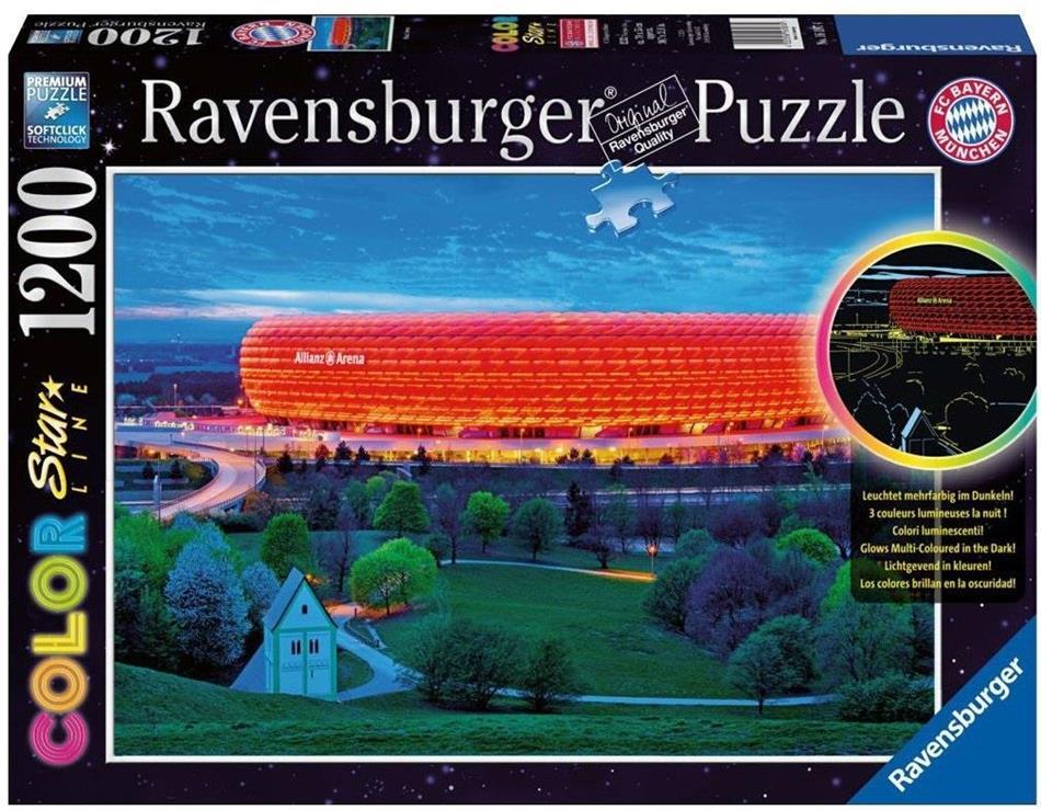 Allianz Arena Puzzle 1200 Teile - Leuchtet mehrfarbig im Dunkeln!