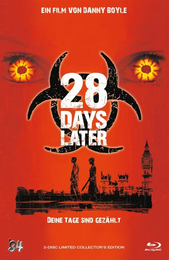 28 Days Later (2002) (Grosse Hartbox, Cover A, Collector's Edition, Limited Edition, Uncut, Blu-ray + DVD)