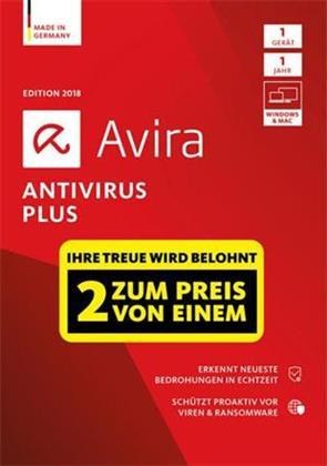 Avira Antivirus Plus 2018 - 1+1
