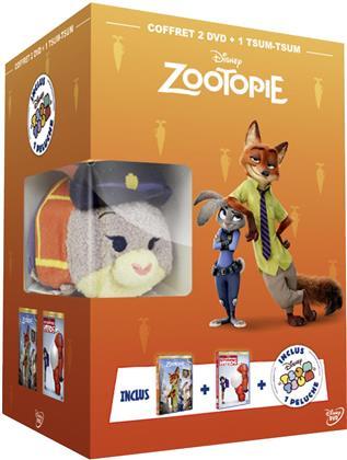 Zootopie (2016) / Les Nouveaux Héros (2014) (+ Plüschtier, Box, Limited Edition, 2 DVDs)