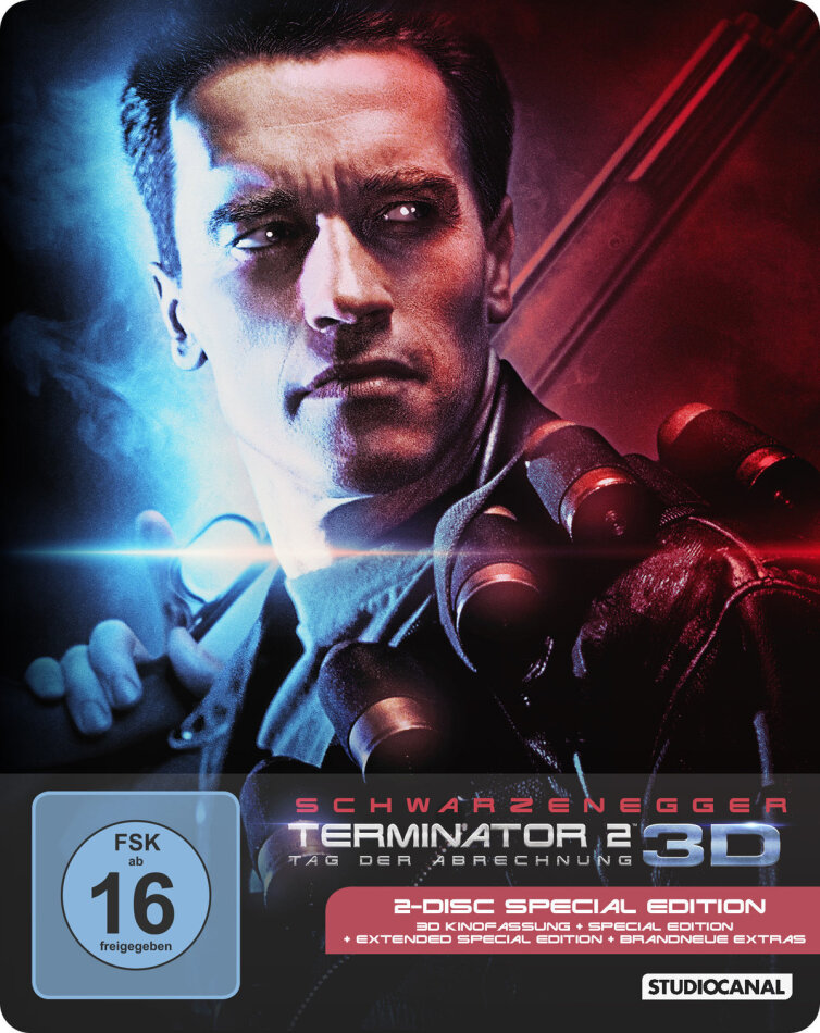 Terminator 2 - Tag der Abrechnung (1991) (Extended Edition, Kinoversion, Special Edition, Steelbook, Blu-ray 3D + Blu-ray)
