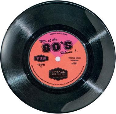 "Vintage Audio - Melamin Teller ""80's"" - 1 Stück"