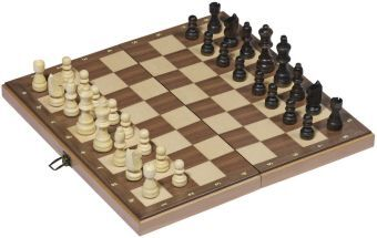 Schachspiel in Holzklappkassette