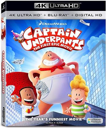 Captain Underpants - The First Epic Movie (2017) (4K Ultra HD + Blu-ray)