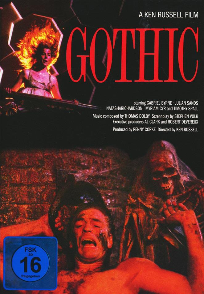 Gothic (1986) (Cover C, Collector's Edition, Limited Edition, Mediabook, DVD + CD-ROM)