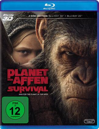 Planet der Affen: Survival (2017) (Blu-ray 3D + Blu-ray)