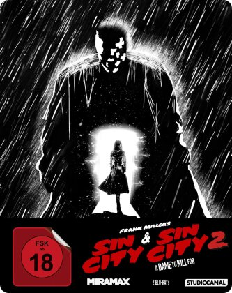 Sin City / Sin City 2 - A Dame to Kill for (Steelbook, 2 Blu-rays)