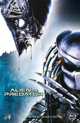 Alien vs. Predator (2004) (Grosse Hartbox, Cover A, Collector's Edition, Extended Edition, Edizione Limitata, Uncut, Blu-ray + 2 DVD)
