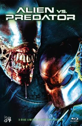 Alien vs. Predator (2004) (Cover D, Grosse Hartbox, Collector's Edition, Extended Edition, Edizione Limitata, Uncut, Blu-ray + 2 DVD)