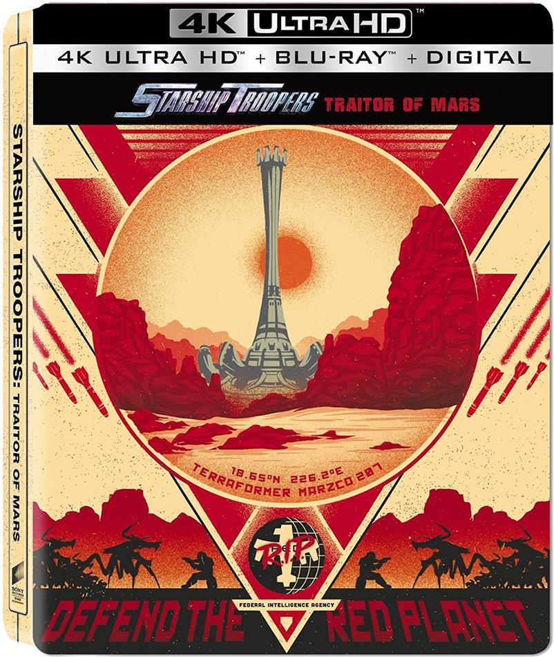 Starship Troopers - Traitors Of Mars (2017) (Steelbook, 4K Ultra HD + Blu-ray)