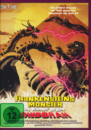 Frankensteins Monster im Kampf gegen Ghidorah (1964) (Cover B, Collector's Edition, Limited Edition, Mediabook, Blu-ray + DVD)