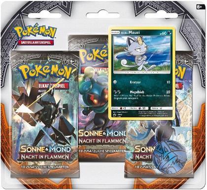 Pokemon - SM03 3-Pack Blister deutsch (Sammelkartenspiel)