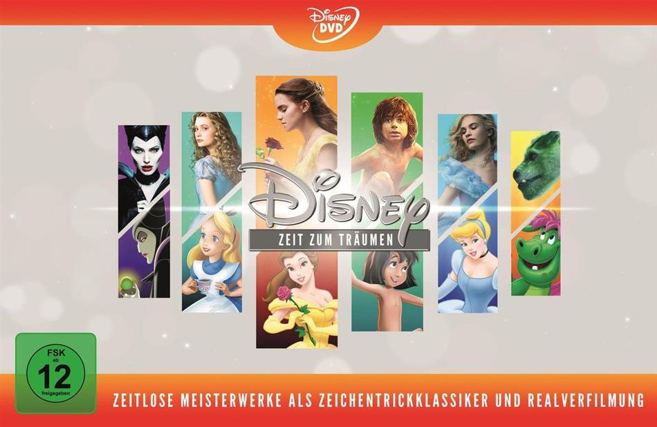 Disney - Zeit zum Träumen - Zeitlose Meisterwerke als Zeichentrickklassiker und Realverfilmung (Limited Edition, 12 DVDs)