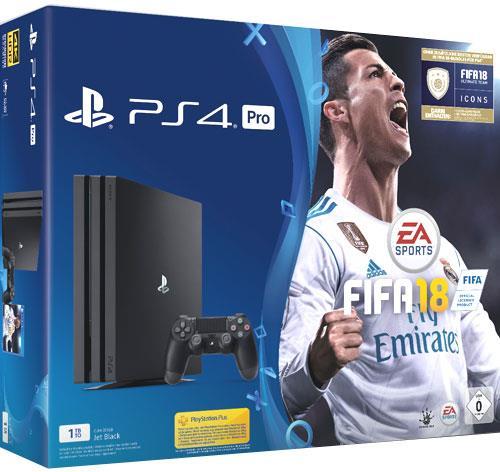 Sony Playstation 4 1TB Pro + Fifa 18 + PSN Plus 14 Tage Voucher